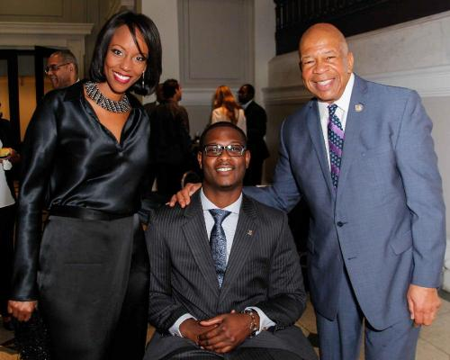 Congressman Elijah Cumminings, his wife and Tipper at the Congressman's Reception during the CBC.